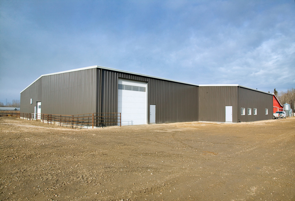 Prefabricated steel building dealers warehouse ontario for Prefab garage ontario