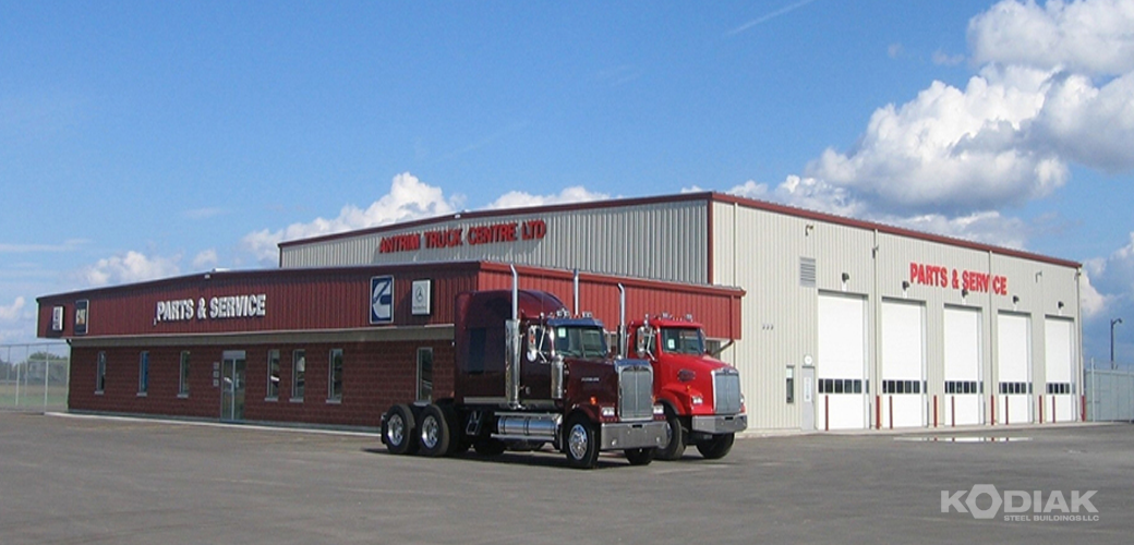 Antrim-Truck-Centre-prefab-transit-buildings-Kodiak-Steel-Buildings