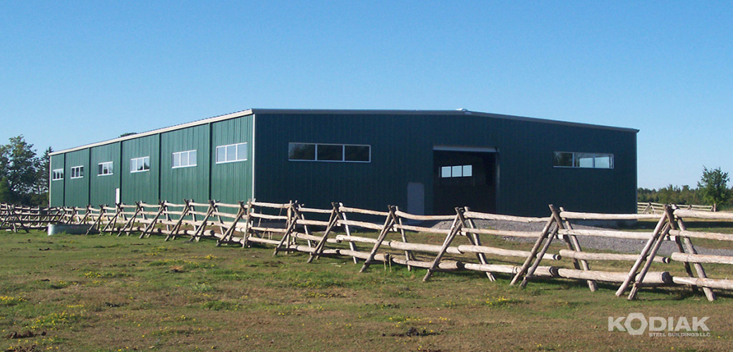 Levy-custom-prefab-metal-Horse-Barn-Kodiak-Steel-Buildings