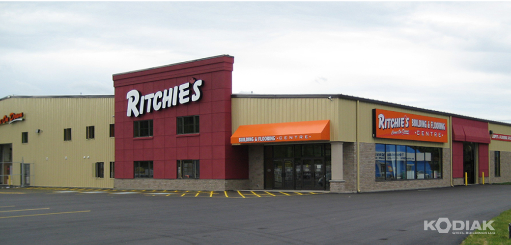 Ritchies-Discount-Retail-Store-prefab-commerical-Kodiak-Steel-Buildings