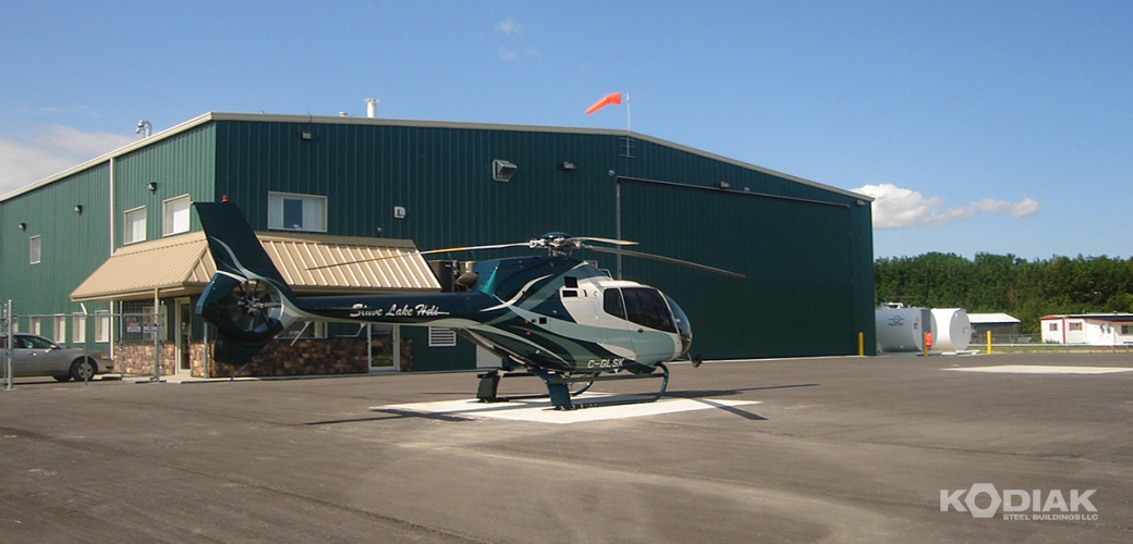 Slave-Lake-custom-prefab-helicoptor-hangar-Kodiak-Steel-Buildings