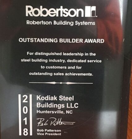 outstanding_builder_award_2018_kodiak_steel_buildings