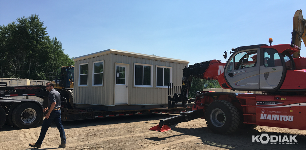 new_steel_building_delivery_kodiak_steel_buildings