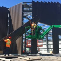 assembling-the-wall-cladding-for-a-6600-sq-ft-kodiak-steel-building