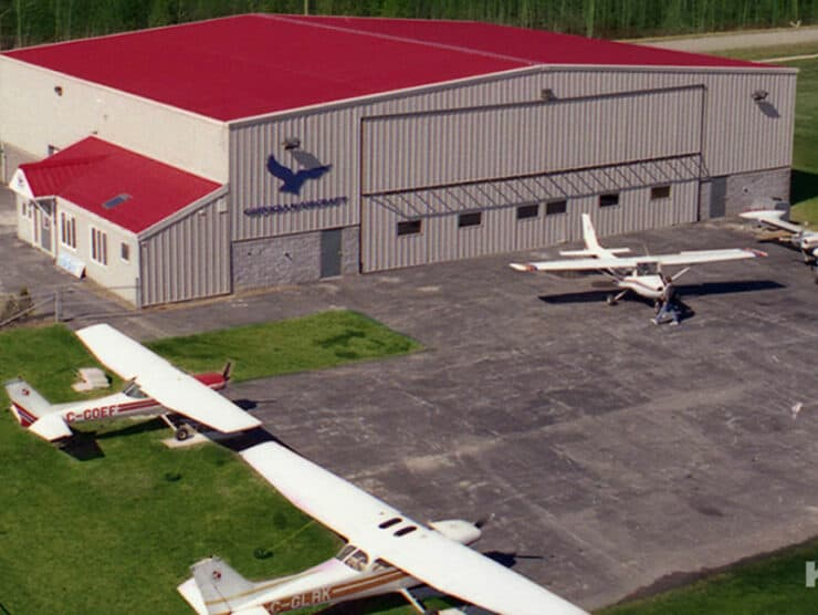 Aviation and Hangar Building