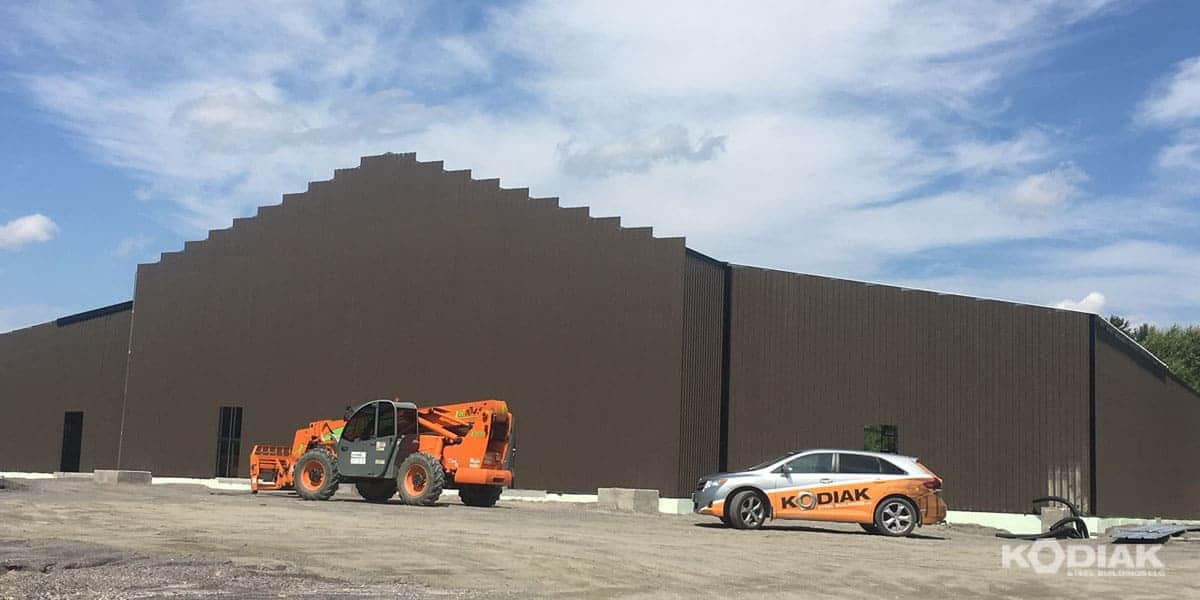 6600 sq ft kodiak steel warehouse building