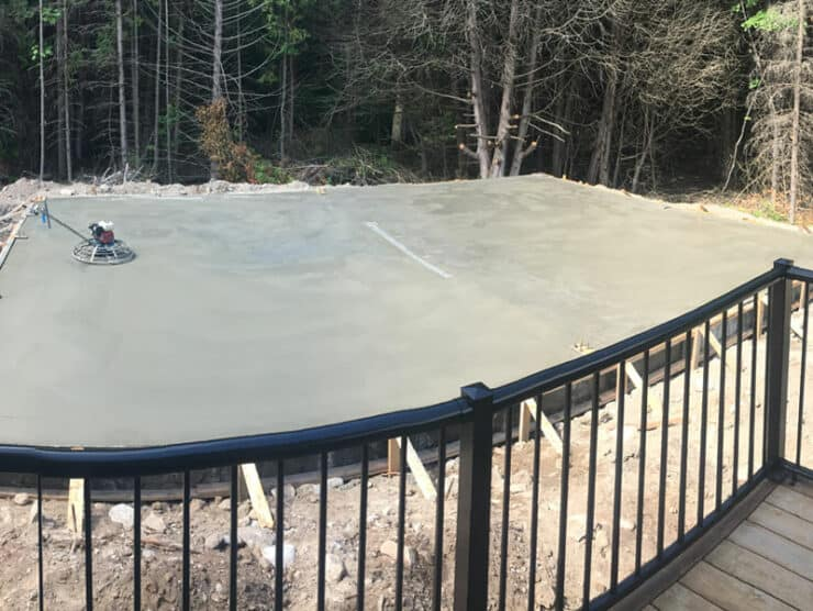 30 x 40 steel building foundation in kawartha lakes