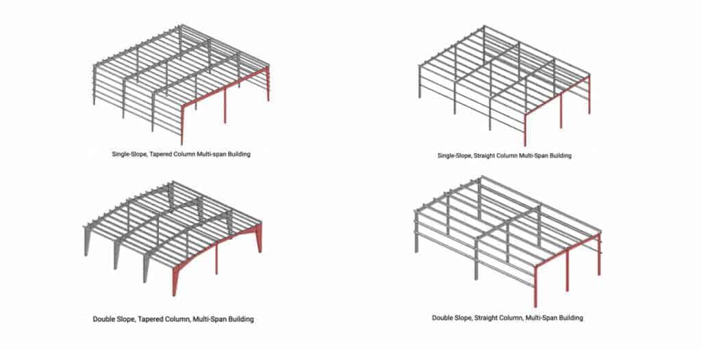 multi-span framing system