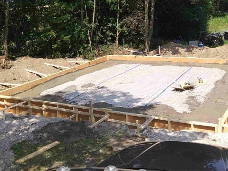 foundation for a new 24 x 24 kodiak steel building