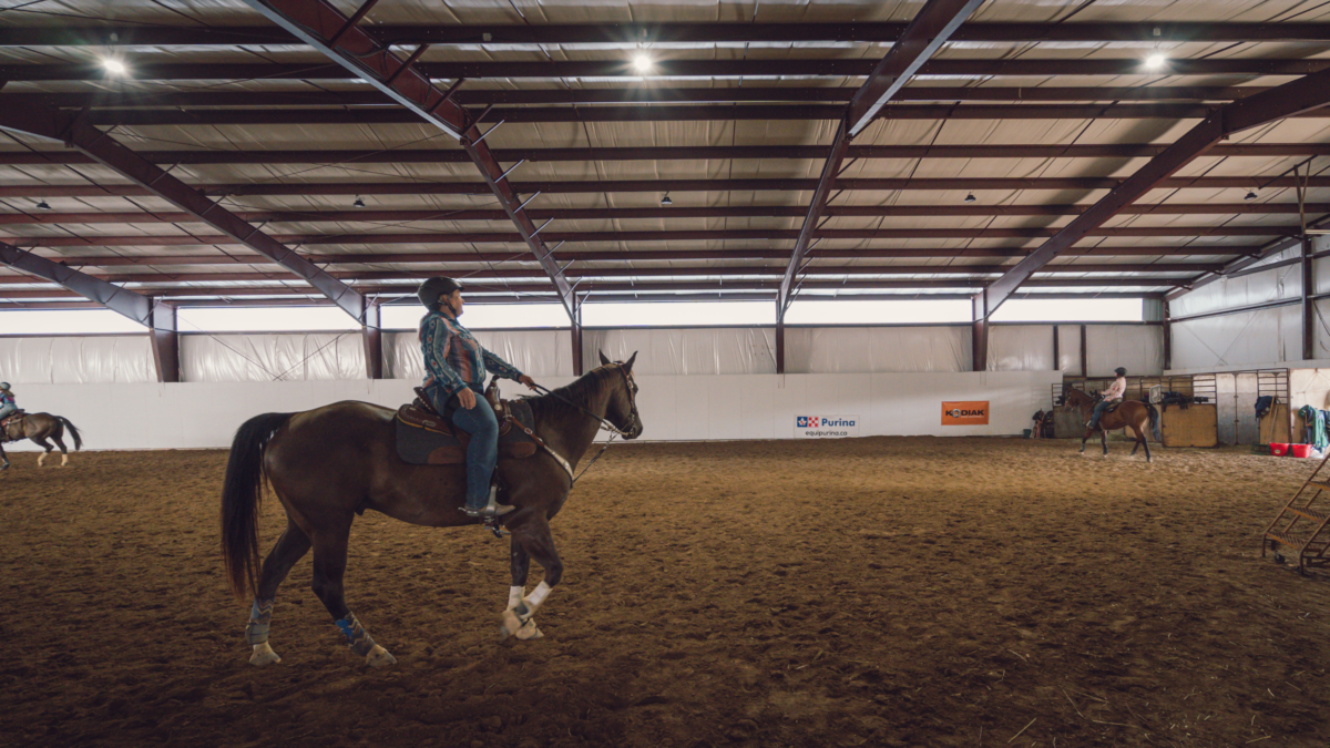 sherwood riding arena interior