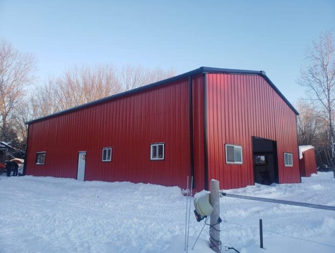 custom prefab steel barn building