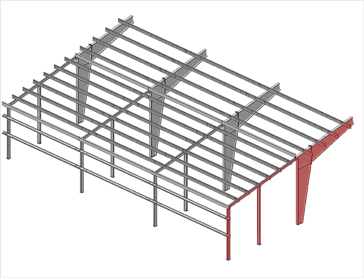 Single Slope Lean to Building