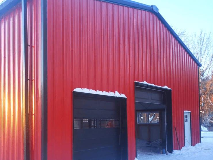 prefab steel barn