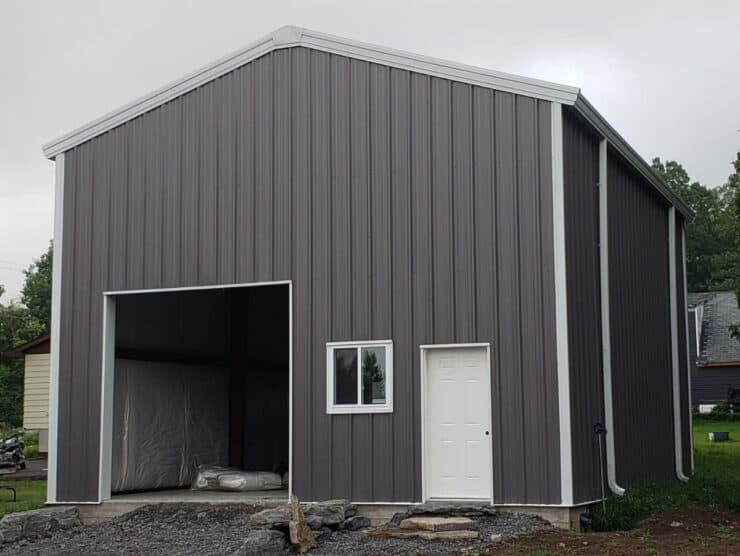 26x34 prefab steel garage
